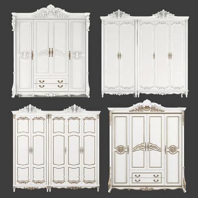 欧式雕花衣柜, 衣柜, 雕花衣柜, 欧式衣柜