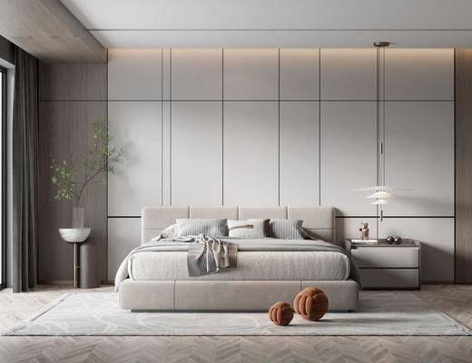 现代, 极简, 卧室, 家装