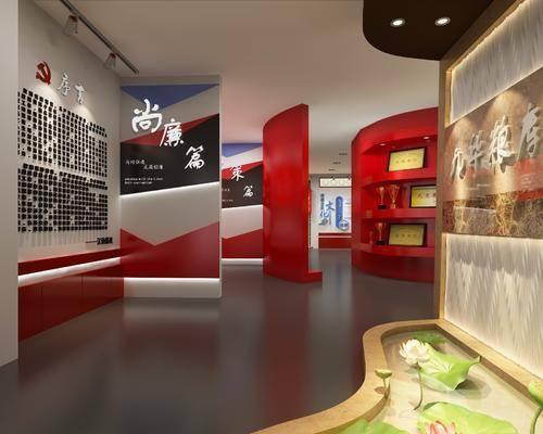 展厅, 墙饰, 装饰柜, 单人椅, 展览展厅, 摆件, 装饰品, 陈设品, 现代
