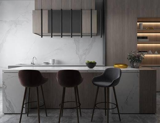廚房, 吧臺, 吧椅, 櫥柜組合