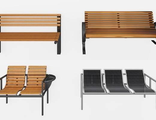 现代, 公园, 长椅