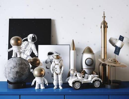 现代, 玩具, 摆件