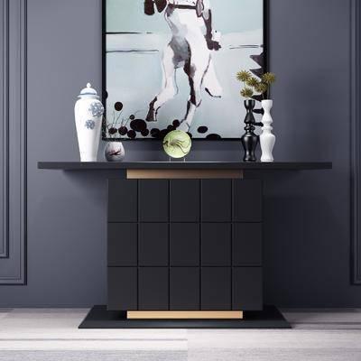 端景台, 摆件组合, 装饰画, 柜架组合