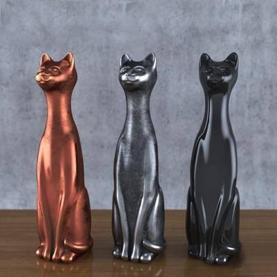 猫, 摆件, 现代, 陈设品