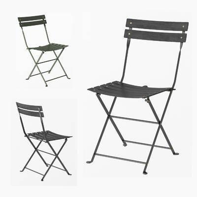 现代, 简约, 户外椅, 单体