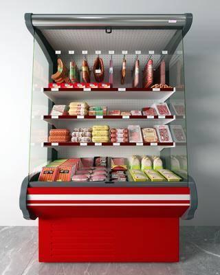 火腿肠, 冰柜, 柜架组合