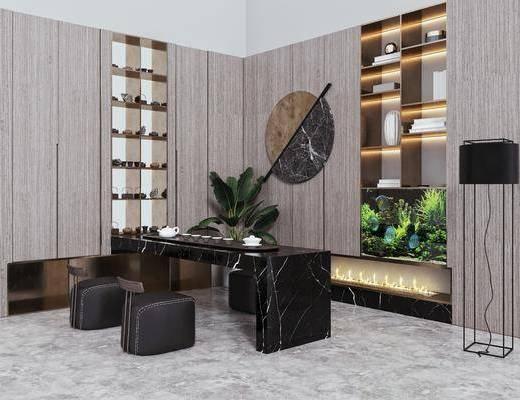 泡茶桌椅, 摆件, 落地灯, 墙饰, 装饰品