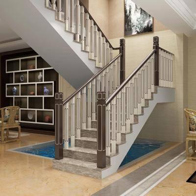 ?#30340;?#27004;梯, 楼梯栏杆, 新中式