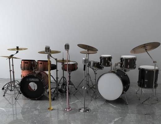现代架子鼓, 话筒