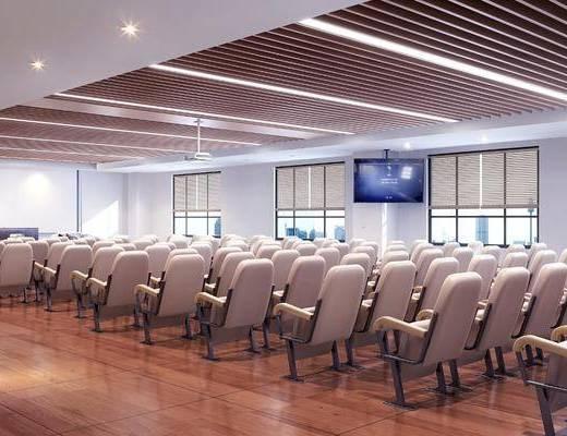 会议室, 单人椅, 前台, 新中式