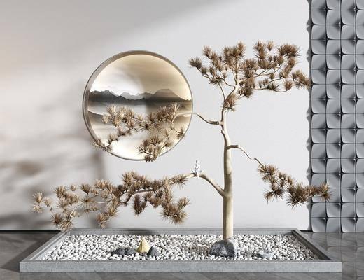 新中式, 景觀, 擺件