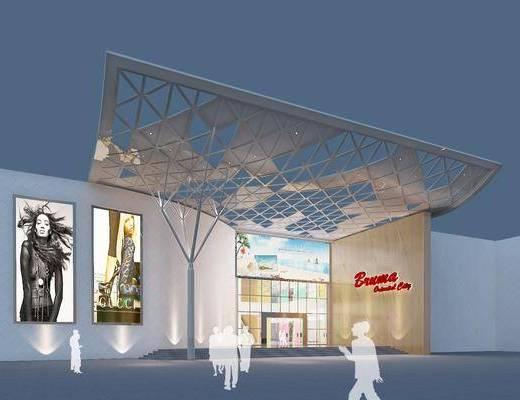 商場賣場, 商場店鋪, 桌椅組合, 門面門頭, 現代