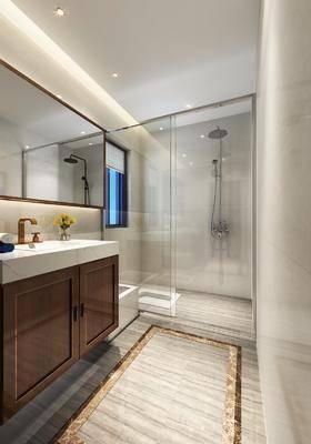 卫生间, 淋浴间, 洗手台