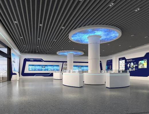展厅, 展柜, 科技展, 科技公司, 现代