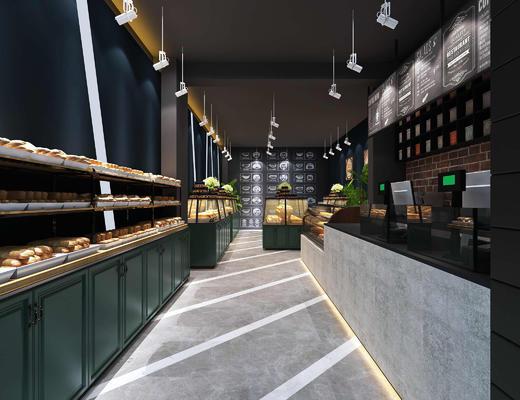 面包店, 烘培店, 前台, 接待, 食品, 射灯
