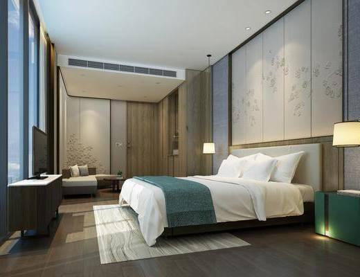 现代, 酒店, 客房