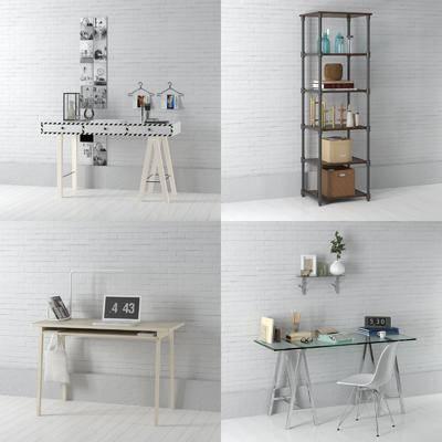 装饰架, 北欧, 书桌