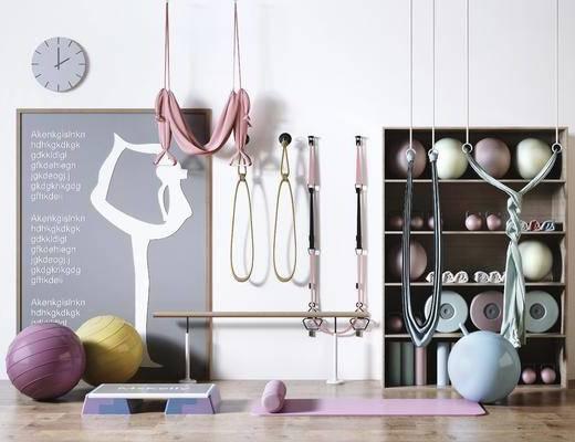 体育器械, 瑜伽垫, 瑜伽球, 置物柜