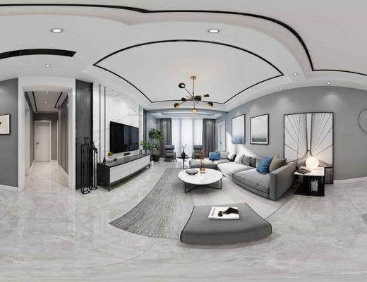 客厅, 餐厅, 沙发组合, 沙发茶几组合, 餐桌椅组合, ?#21830;?#26885;组合, 现代