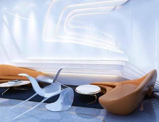异形沙发, 沙发组合, 单椅