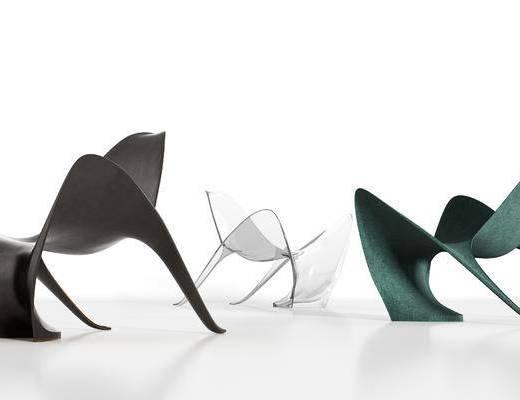 现代, 异形, 单椅, 组合, 3D模型