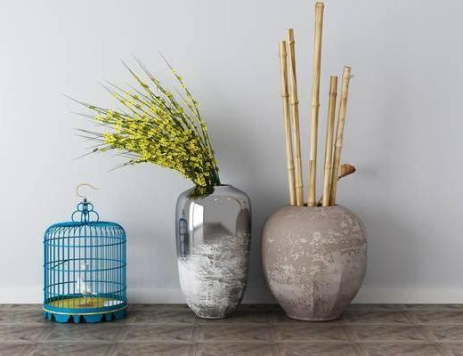 花瓶, 植物