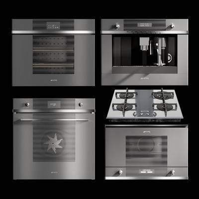 咖啡機, 微波爐, 烤箱, 煤氣灶組合