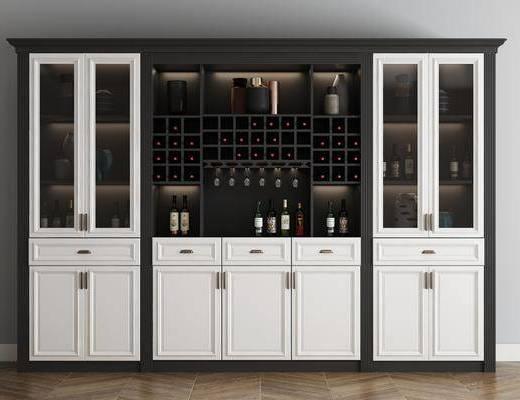 實木酒柜, 紅酒柜, 紅酒架, 裝飾柜, 酒水柜, 書柜, 邊柜