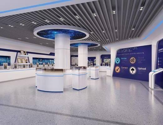 科技展厅, 展台, 现代
