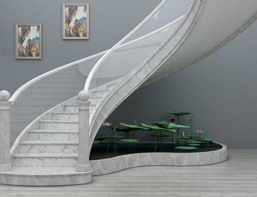 旋轉樓梯, 裝飾畫, 掛畫, 歐式