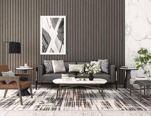 现代, 沙发组合, 茶几组合