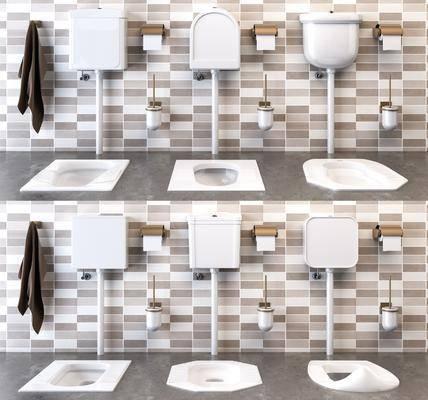 马桶, 厕所, 蹲厕, 现代蹲厕, 冲水箱