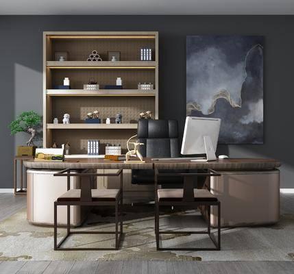 新中式书桌, 书桌, 办公桌