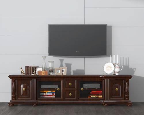 陈设品, 摆件, 电视, 电视柜, 摆设