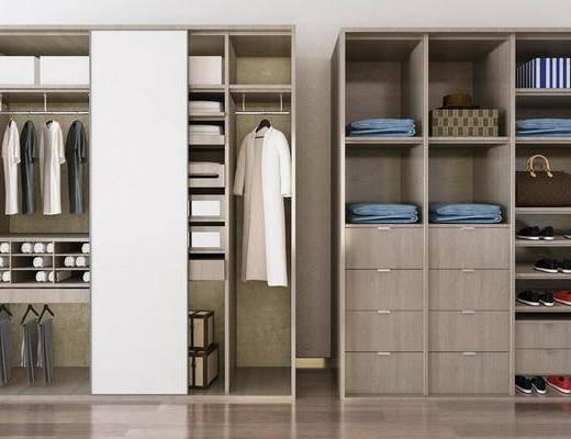 衣柜组合, 服饰, 鞋子, 现代