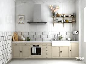 厨房, 橱柜, 现代, 厨具, 餐具, 现代厨房