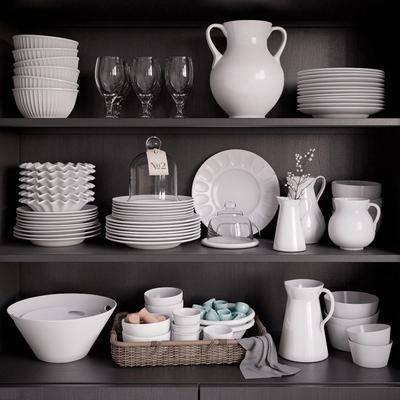 餐柜, 餐具, 现代