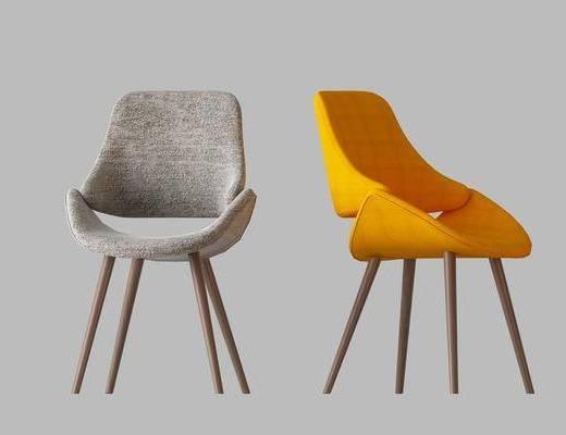 单椅组合, 单人椅, 北欧