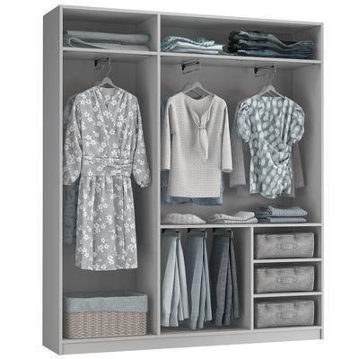衣柜, 现代衣柜, 纯色衣柜, 服装衣服, 组合, 现代