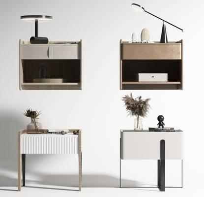 现代, 床头柜, 柜架, 单体