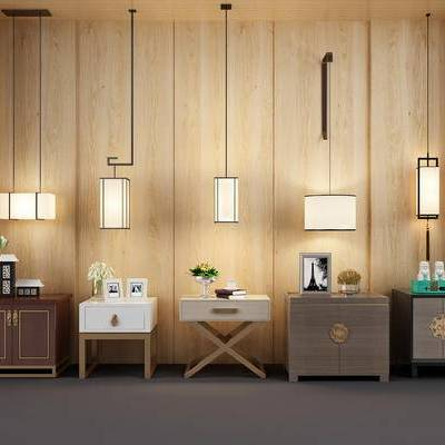 新中式床头柜, 新中式吊灯, 新中式拉手, 新中式门把手