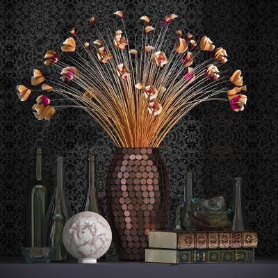 花瓶, 书本, 瓶子, 玻璃器皿, 摆件