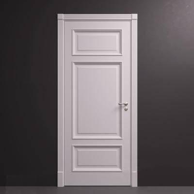 现代简约, 白色, 门, corona, 构件门