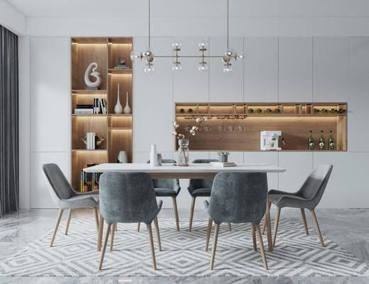 餐桌椅组合, 餐边柜, 酒柜, 橱柜