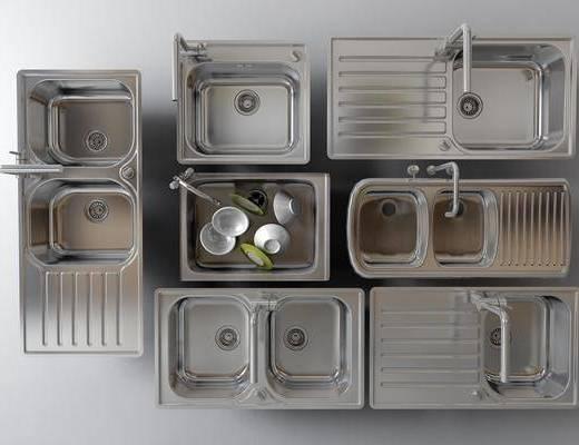 洗菜盆组合, 洗手台组合, 现代