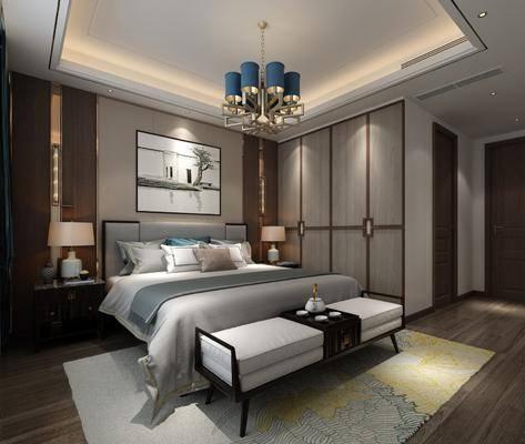 臥室, 老人房, 床具組合, 中式