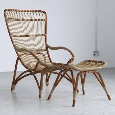 现代, 躺椅, 藤编