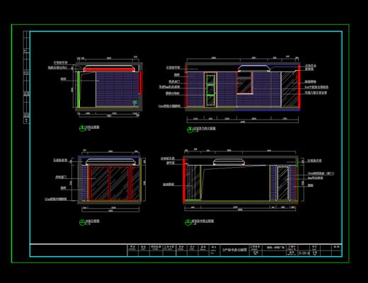 CAD, 施工图, 家装, 立面图, 平面图