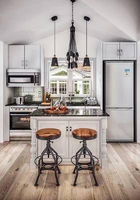 北欧, 厨房, 吧椅, 灯具, 厨房用具, 摆件
