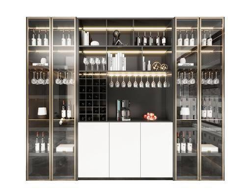 现代, 酒柜, 柜架